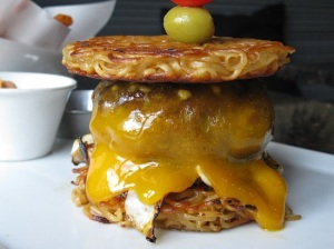 Blowfish Sushi Lounge's Ramen Burger